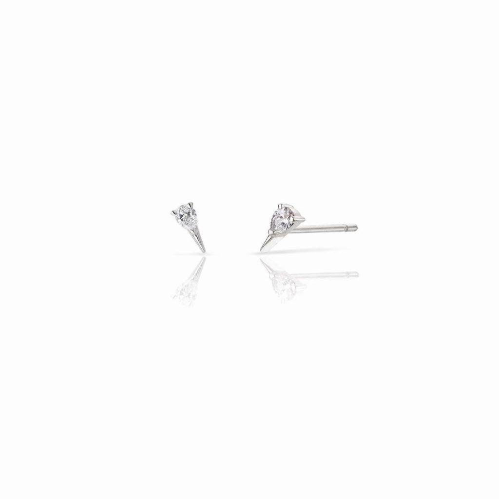 Diamond Spark Stud Earrings by Le Ster