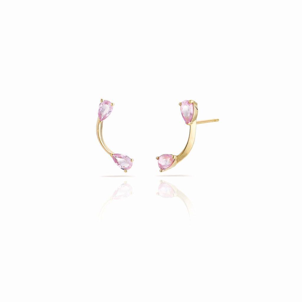 Pink Flare Stud Earrings by Le Ster