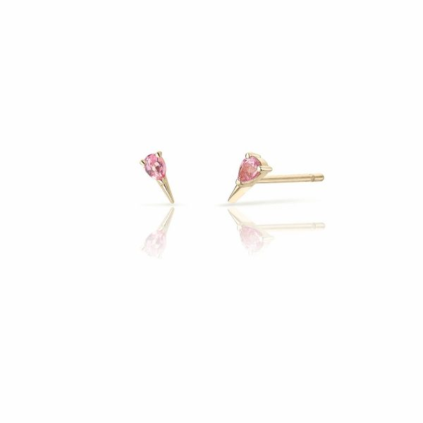 Pink Sapphire Spark Stud Earrings by Le Ster