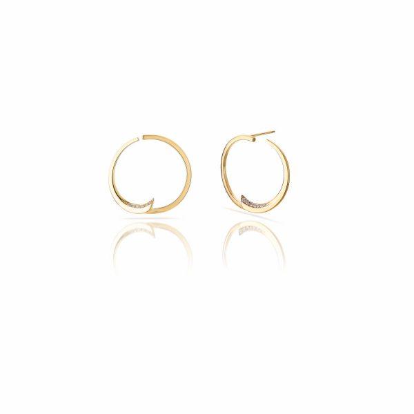 Pin Wheel Hoop Earrings by Le Ster
