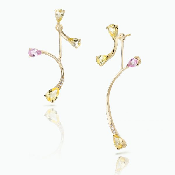 Lemon Flare Studs with Rose More Jackets by Le Ster