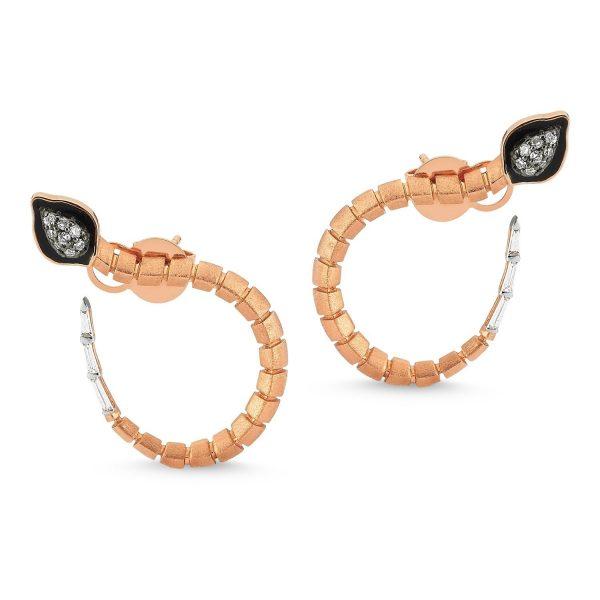 Baby Dragon Hoop Earrings by Selda Jewellery