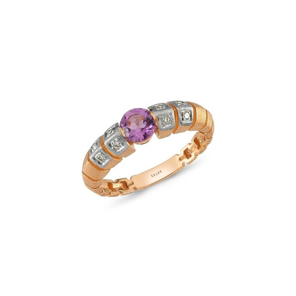 Uraeus Amethyst Ring by Selda Jewellery