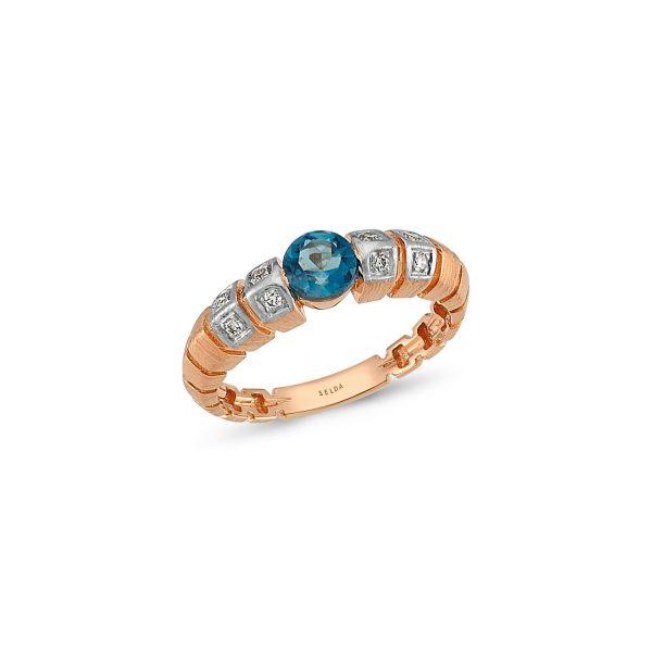 Uraeus Blue Topaz Ring by Selda Jewellery