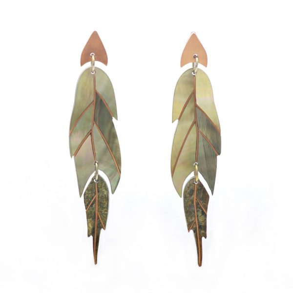 Ajei Feather Swing Earrings by NIIN