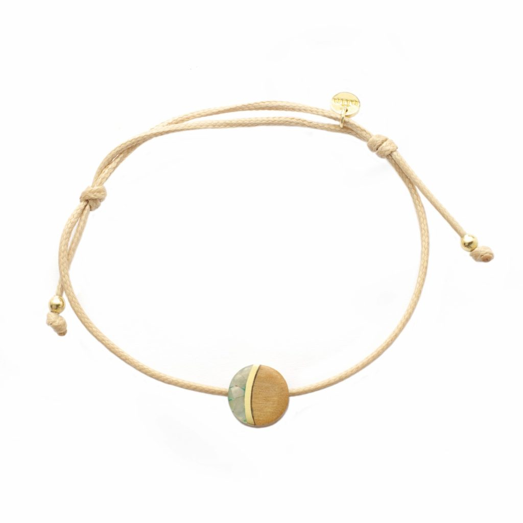 Vida Driftwood Moon Cord Bracelet by NIIN