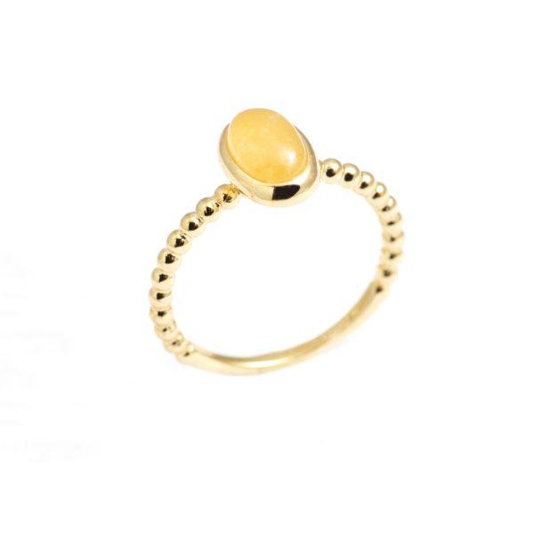 Vida Citrine Oval Stack Ring by NIIN