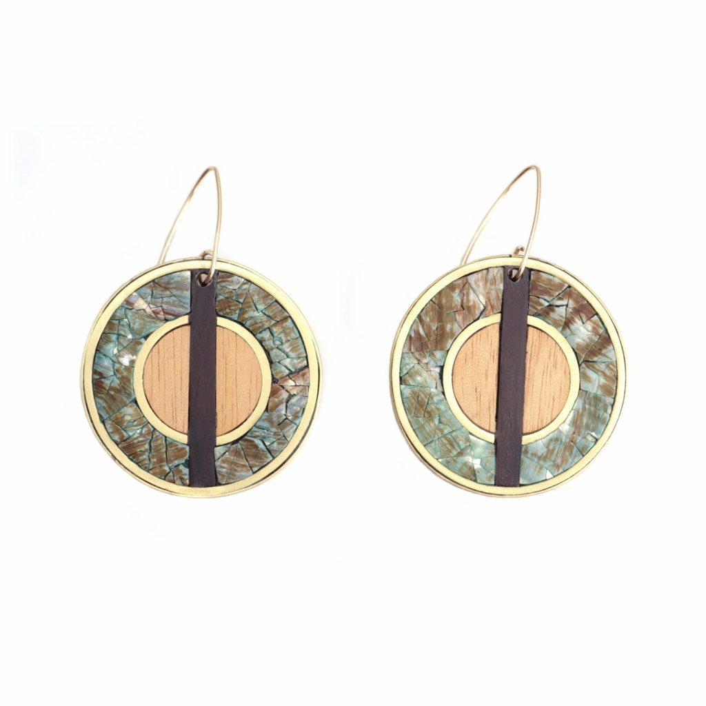 Vida Round Pendant Earrings by NIIN