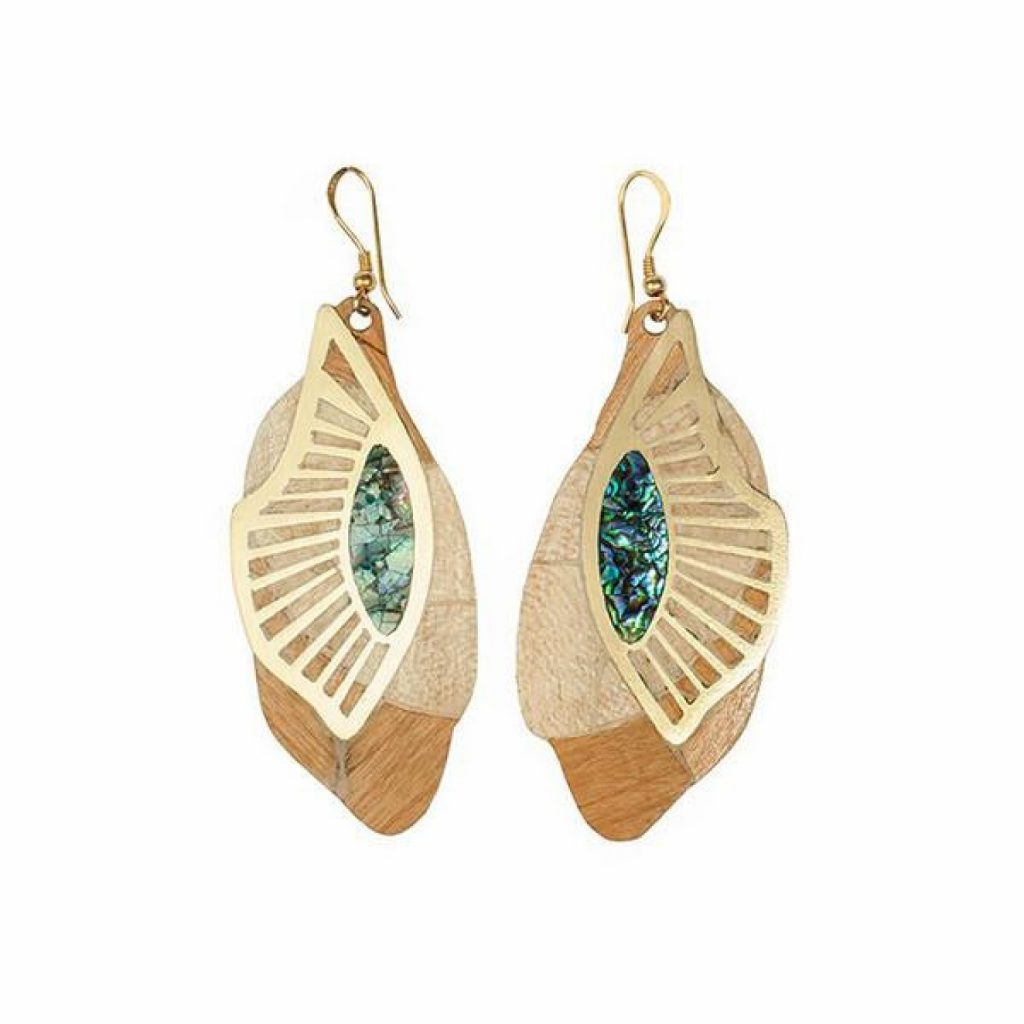Zayah Wing Hook Earrings by NIIN