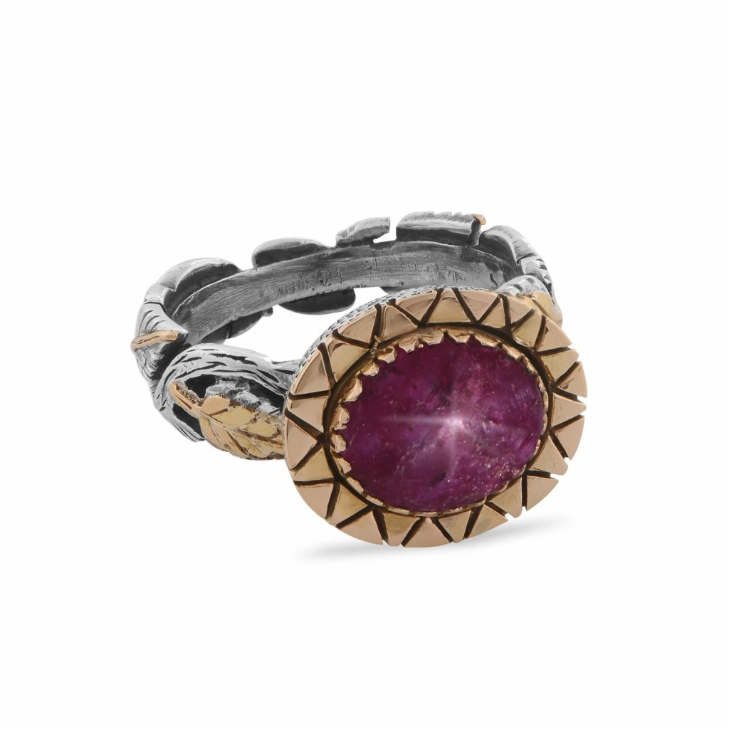 Brielle Star Ruby Ring by Emma Chapman Jewels