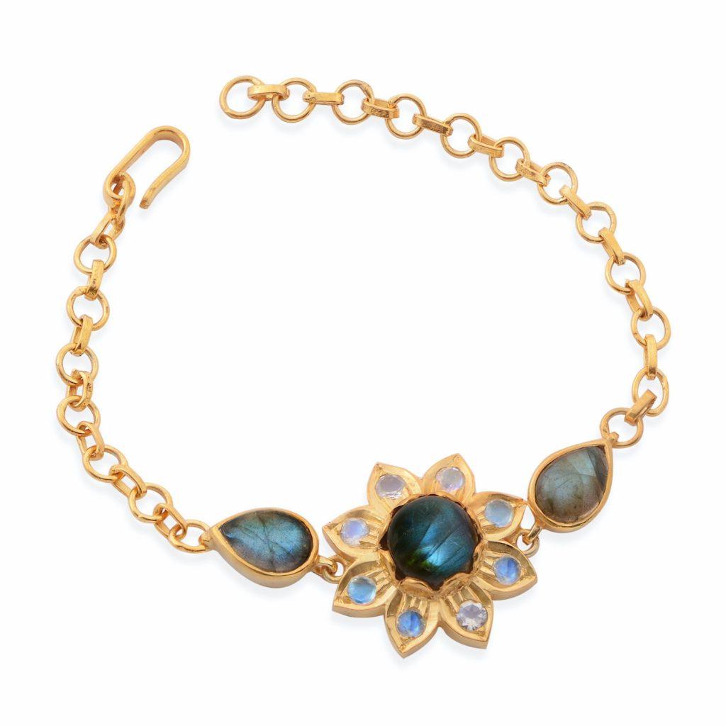 Nova Labradorite Moonstone Bracelet by Emma Chapman Jewels