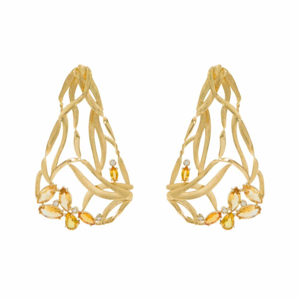 Van Gogh's Fritillaries Earrings by Larissa Moraes