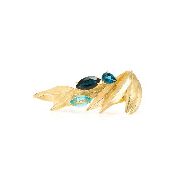Van Gogh's Irises Ring by Larissa Moraes