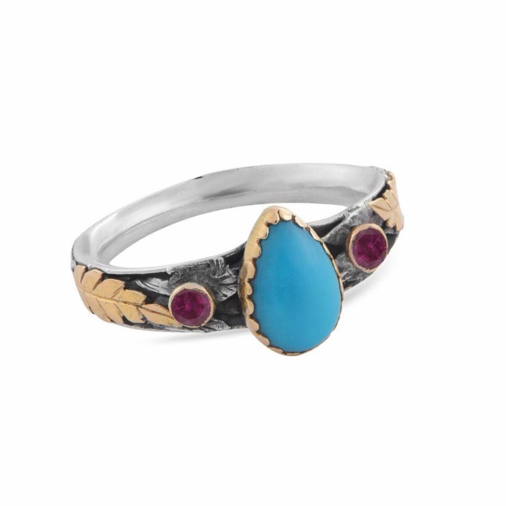 Tiana Turquoise Tourmaline Ring by Emma Chapman Jewels