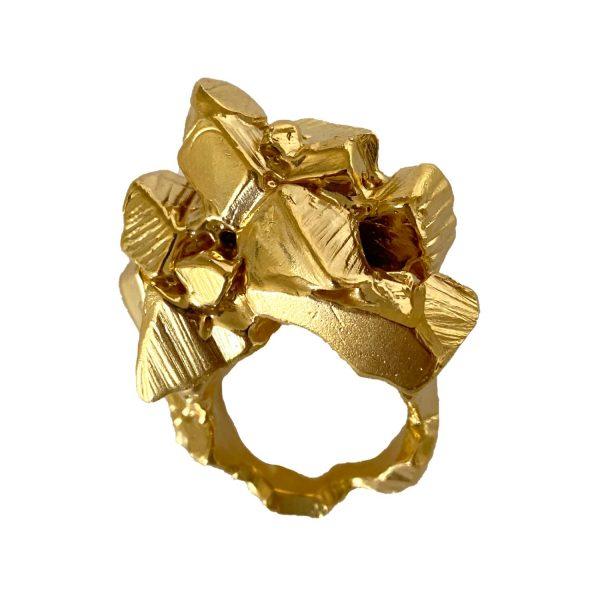 Cubes Of Gold Ring by Imogen Belfield
