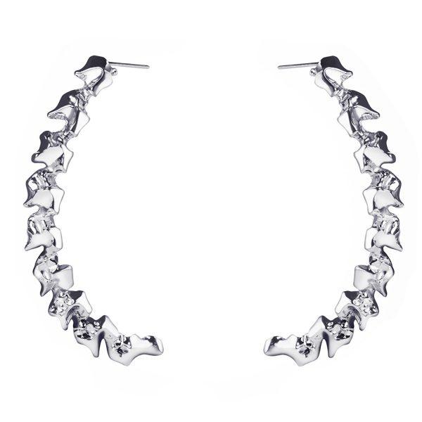 Scorpia Half Moon Earrings in Silver by Imogen Belfield