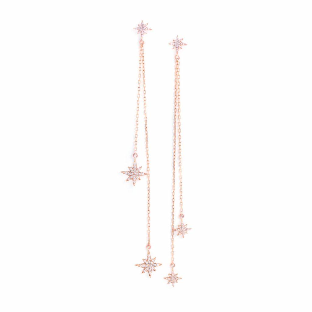 Rose Gold Astral Earrings by MyriamSOS