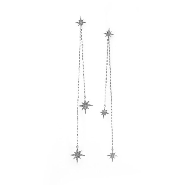 White Gold Astral Earrings by MyriamSOS