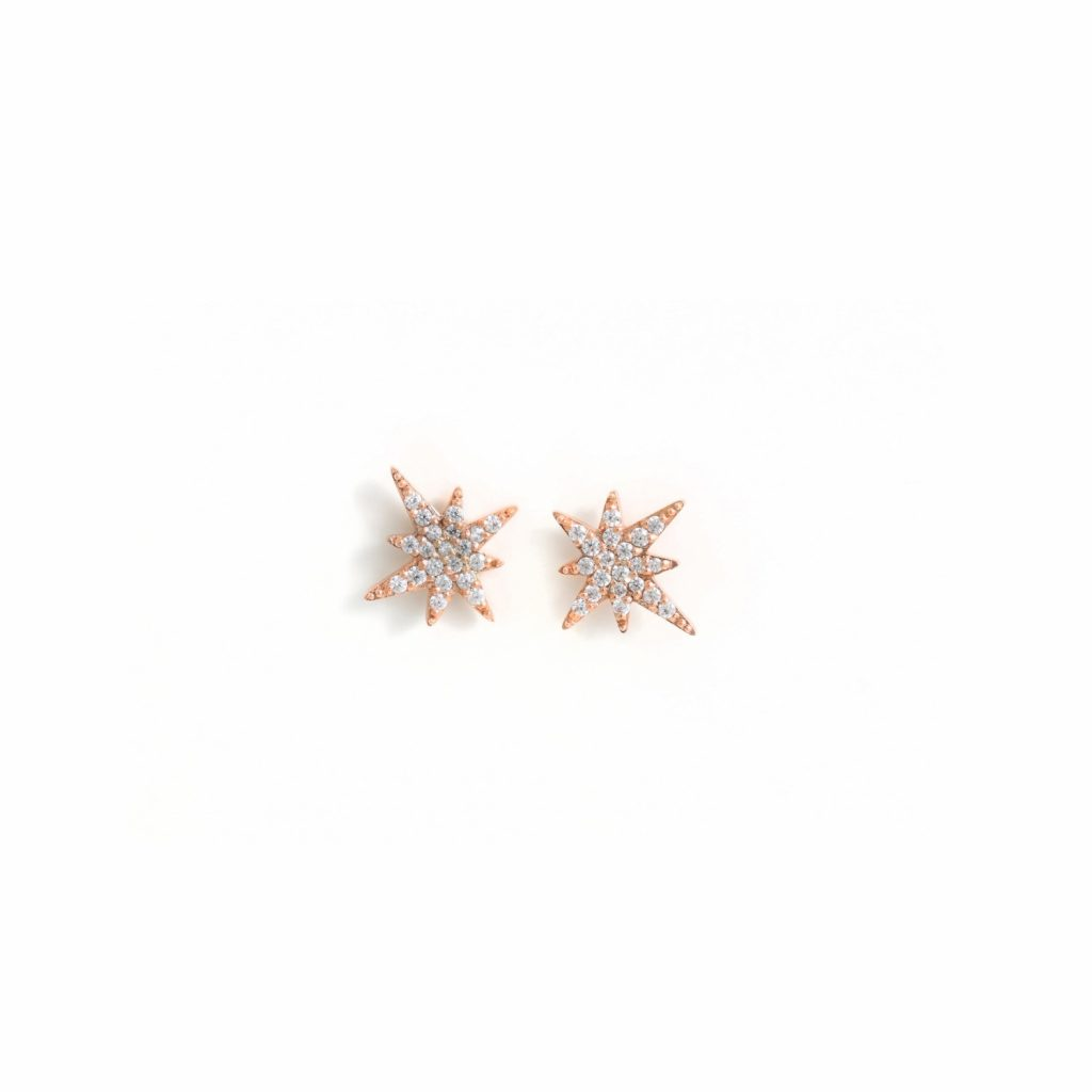 Rose Gold Astral Studs by MyriamSOS
