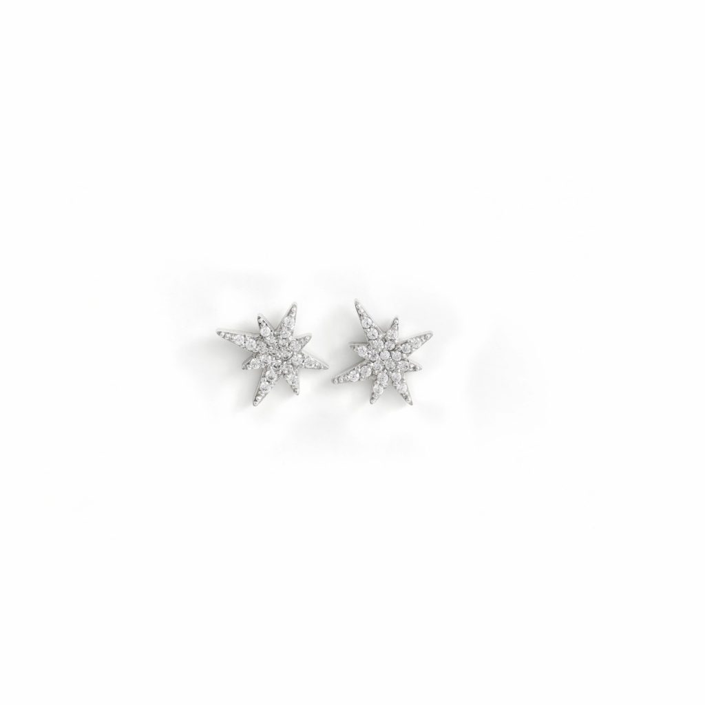 White Gold Astral Studs by MyriamSOS