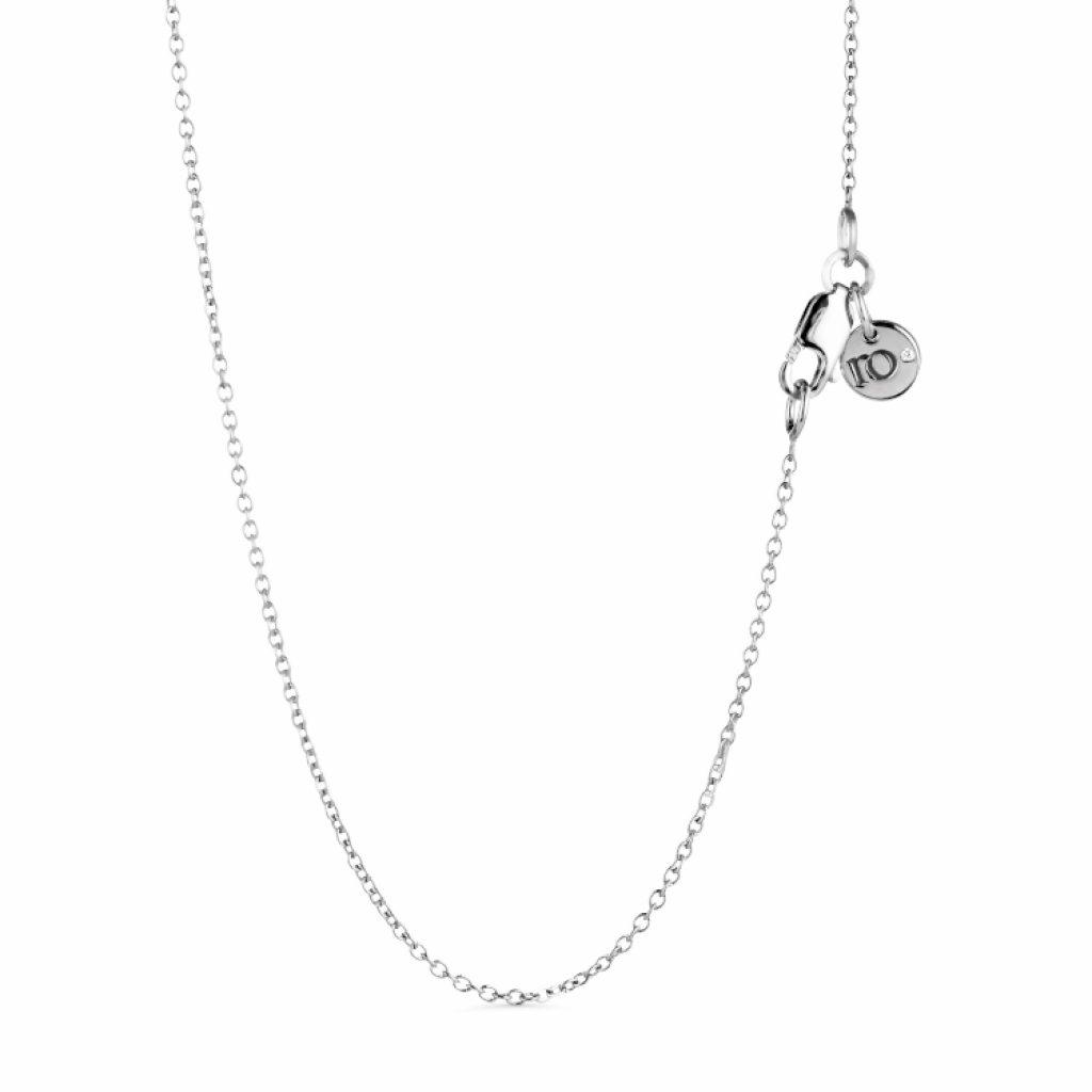 Ro Necklace 45cm (White Gold) by Ro Copenhagen
