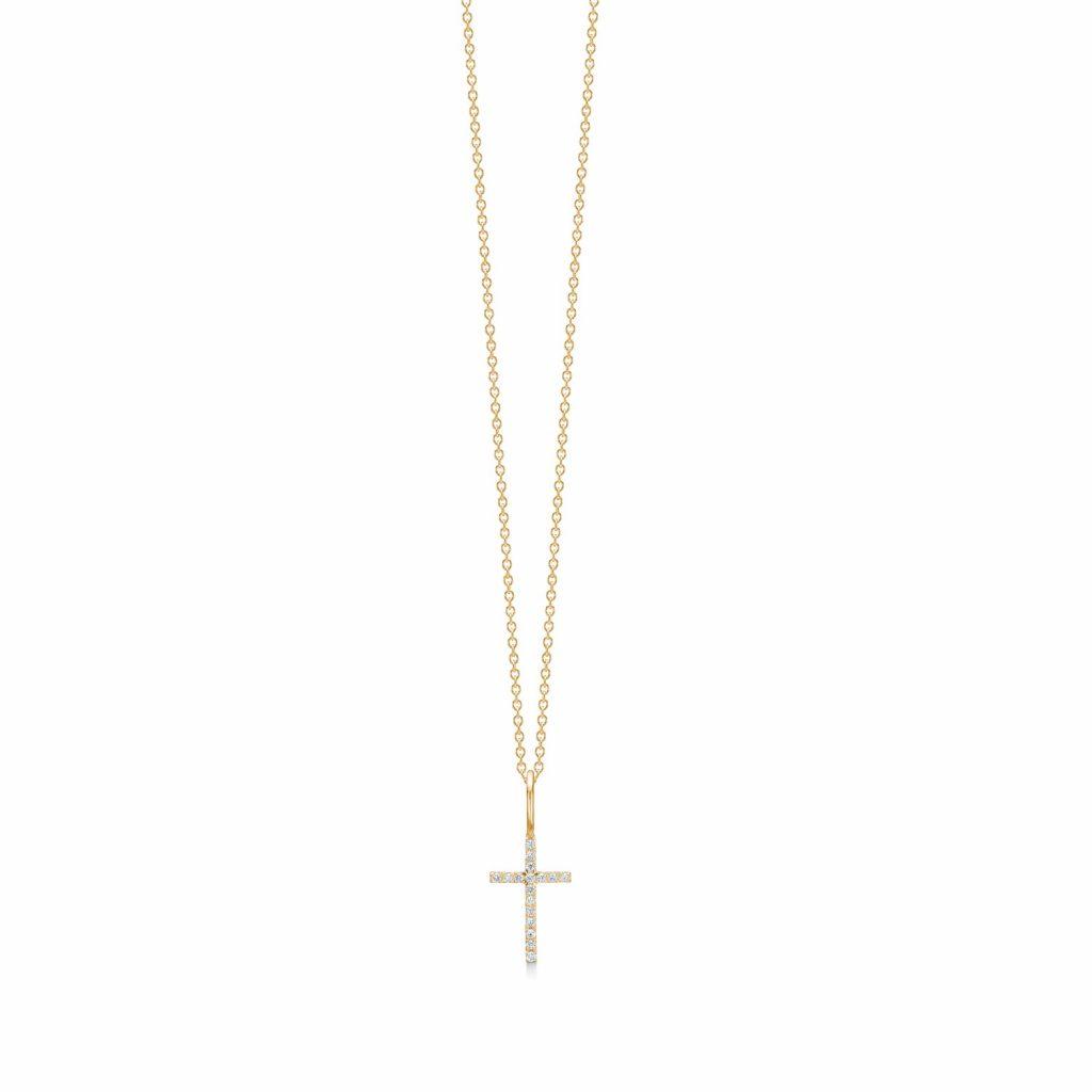 Rock Classic Diamond Cross Pendant by Ro Copenhagen
