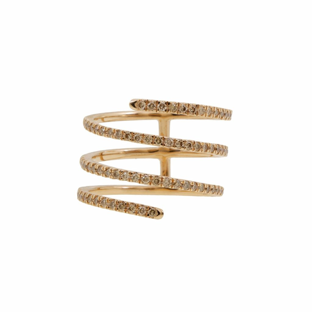 Harmonic Coil Ring (Pink Gold) by Sandy Leong