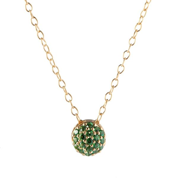 May Birthstone Dot Necklace by Sandy Leong