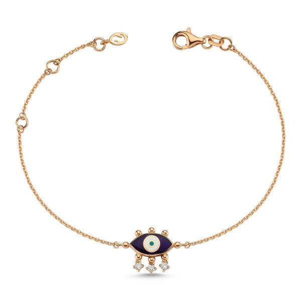 Evil Eye Bracelet (Navy Blue) by Selda Jewellery