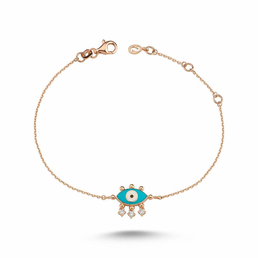 Evil Eye Bracelet (Turquoise) by Selda Jewellery