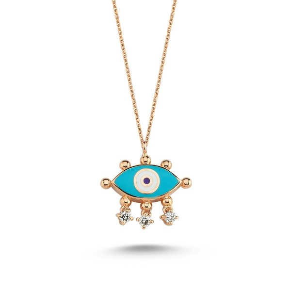 Evil Eye Necklace (Turquoise) by Selda Jewellery