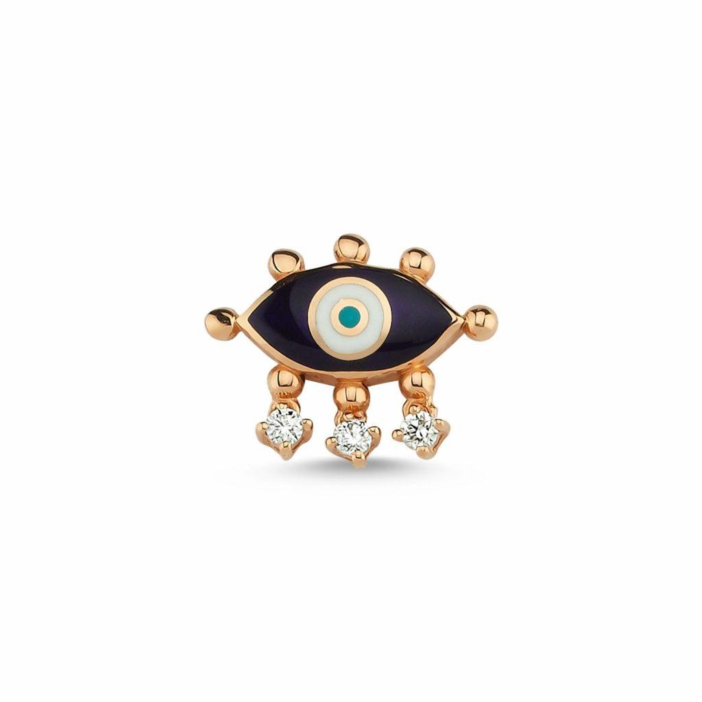 Evil Eye Stud (Navy Blue) by Selda Jewellery