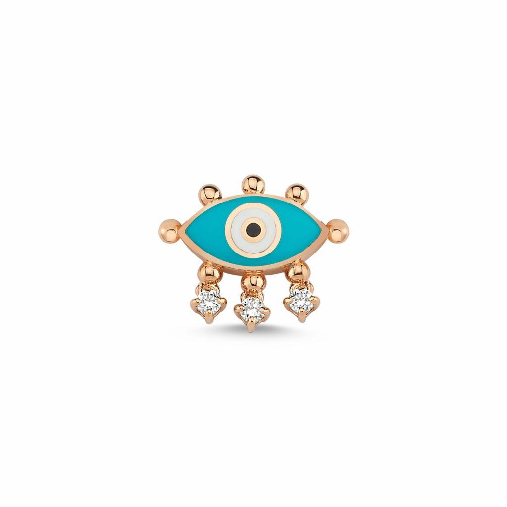 Evil Eye Stud (Turquoise) by Selda Jewellery