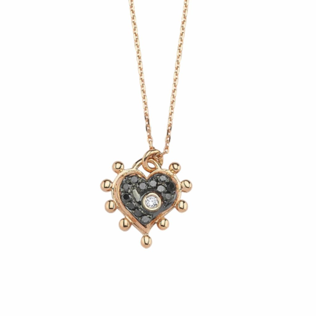 Black Heart Necklace by Selda Jewellery