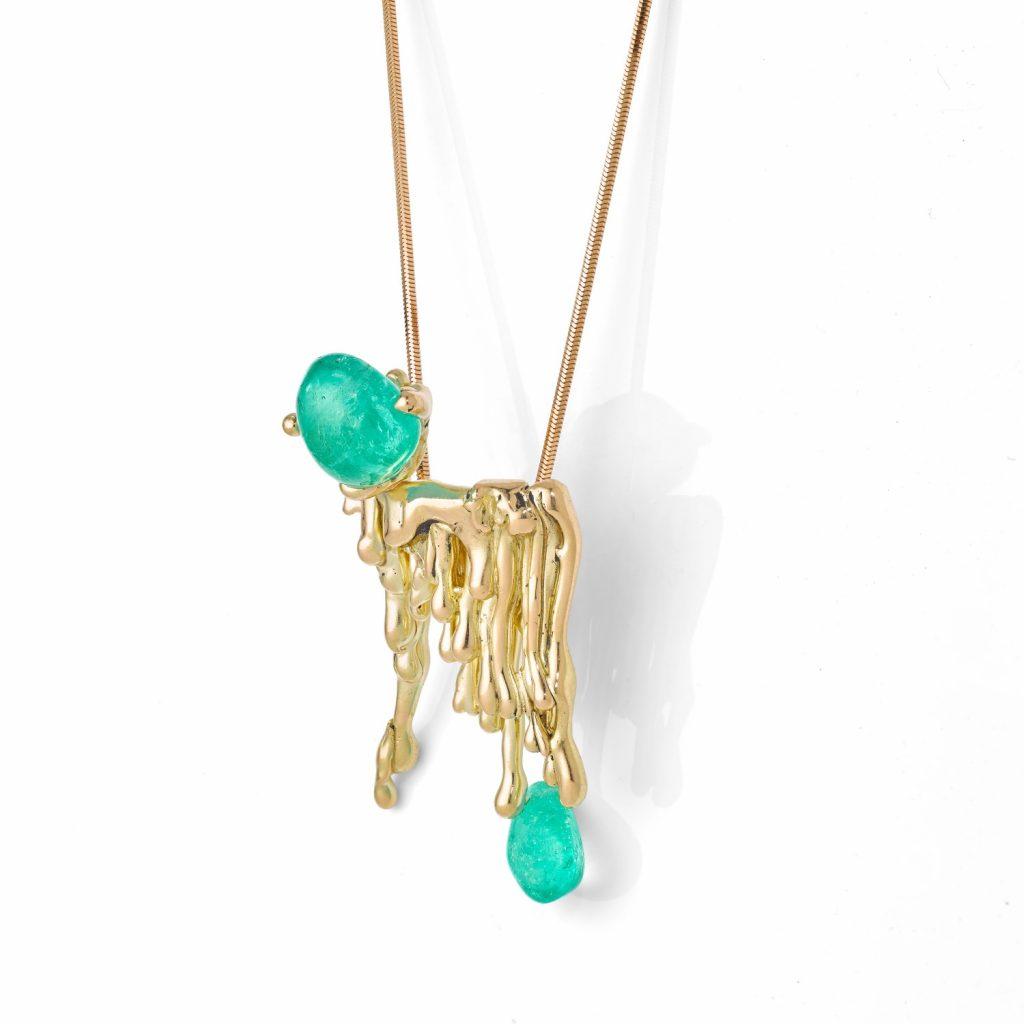 Molten Muzo Candelabra Necklace by The Rock Hound