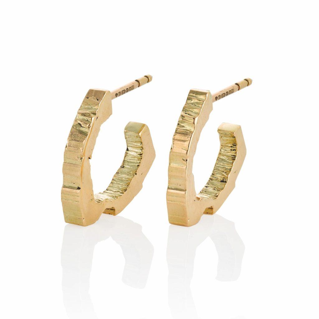 RockStars Hoop Earrings in Yellow Gold by The Rock Hound