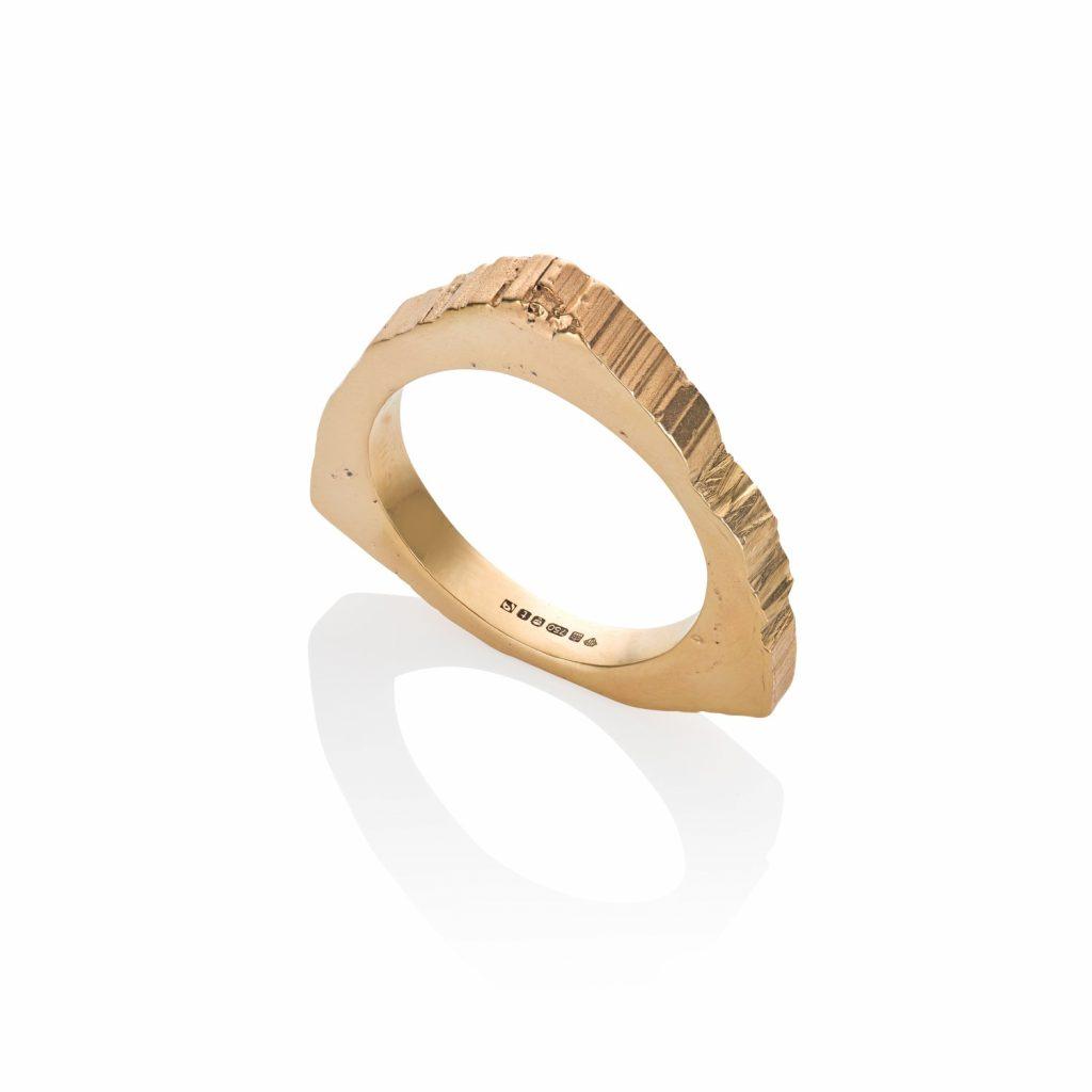 RockStars Trigonal Slice Ring in Yellow Gold by The Rock Hound