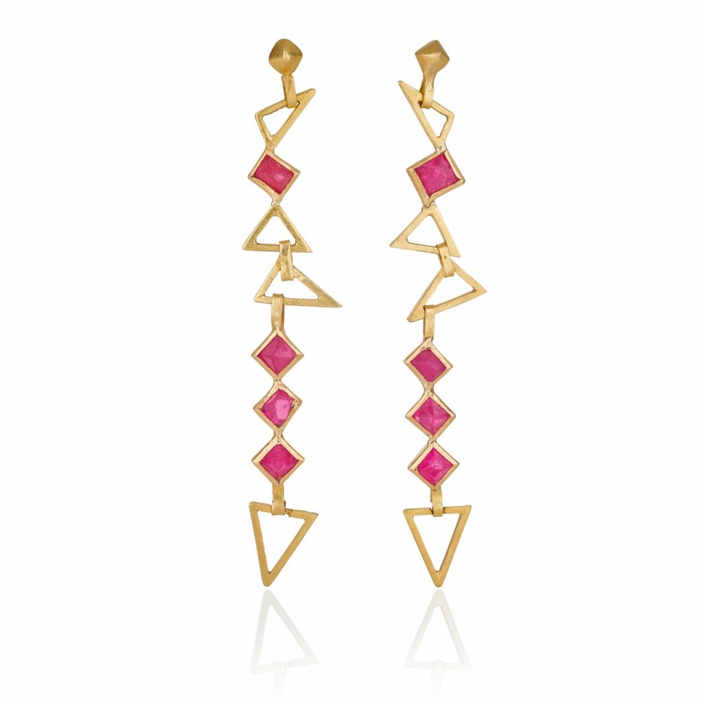 Turquoise Mountain Spinel Cascade Earrings by The Rock Hound