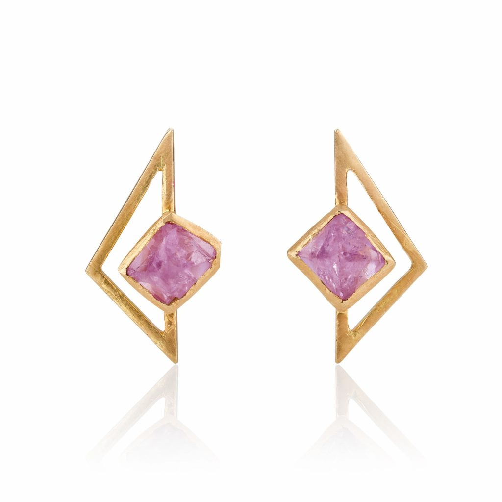 Turquoise Mountain Lavender Spinel Stud Earrings by The Rock Hound
