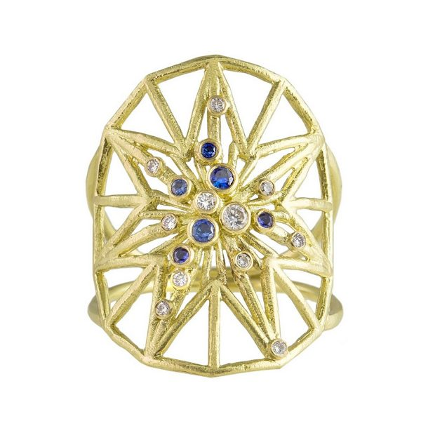 Star Shield Ring by Claire Macfarlane Jewellery