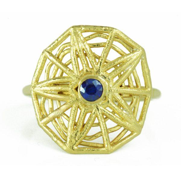 Sapphire Supanova Ring by Claire Macfarlane Jewellery