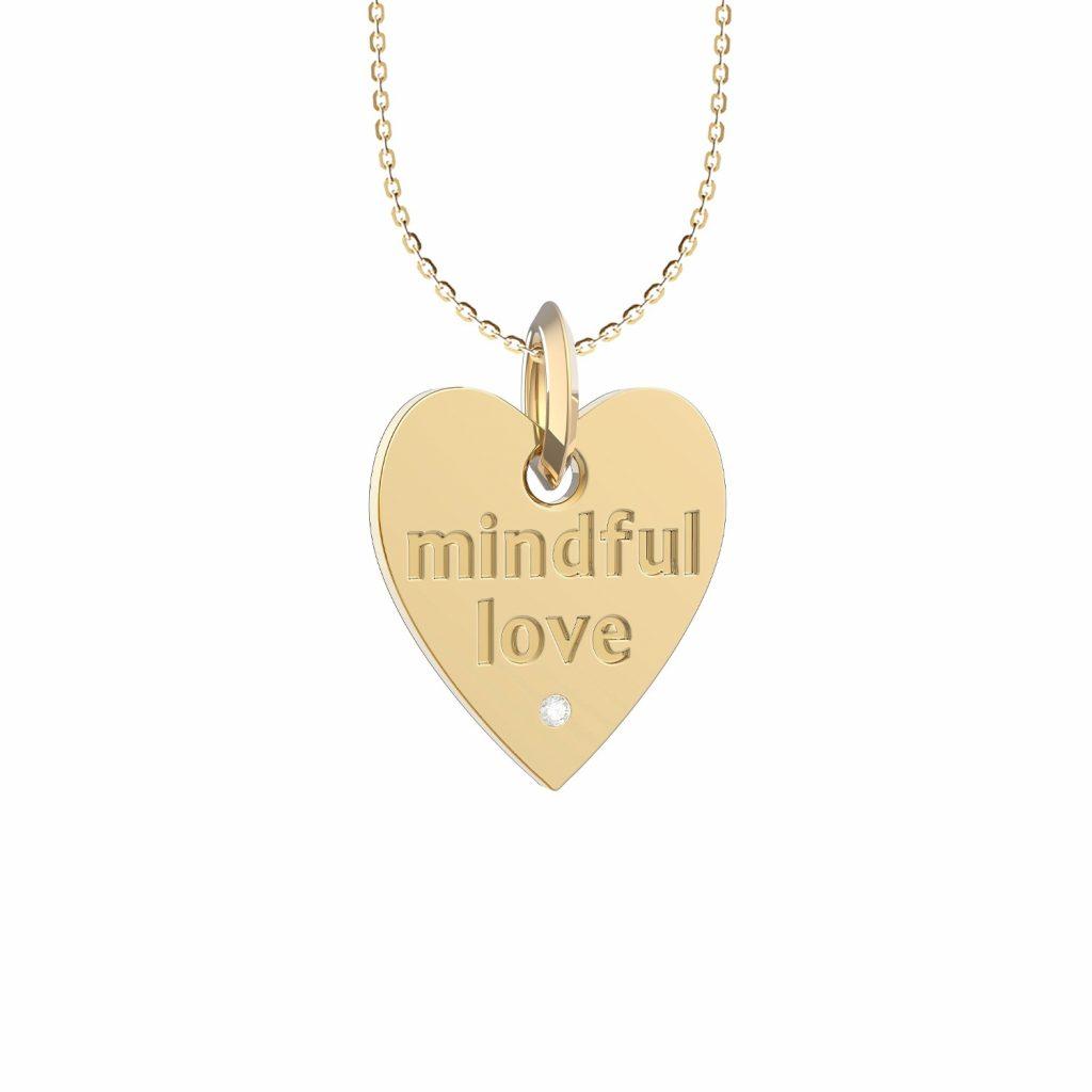 A Mindful Love Heart Pendant by Maren Jewellery