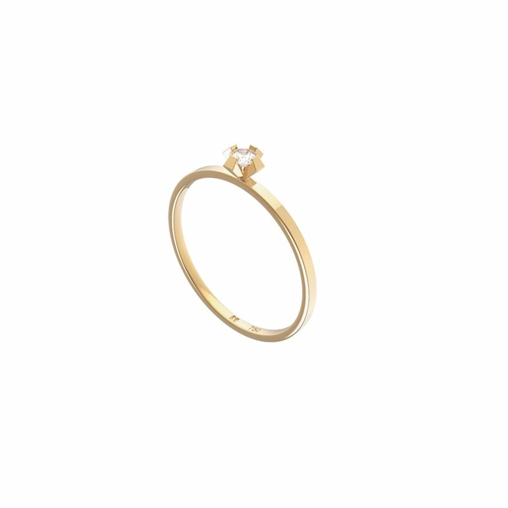 ReMind Mini Solitaire Ring by Maren Jewellery