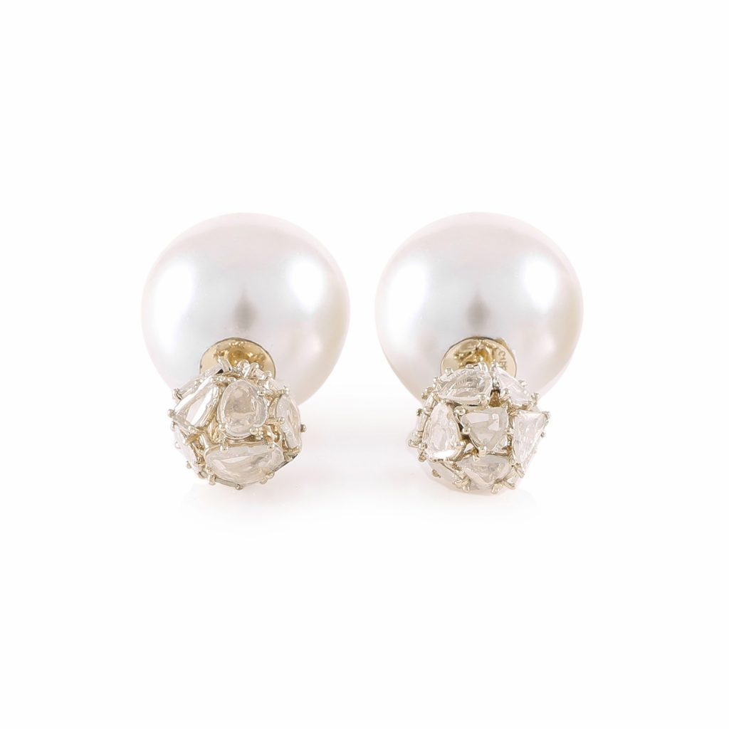 Earring Zero 2 – Diamonds in White Gold by IVAR by Ritika Ravi