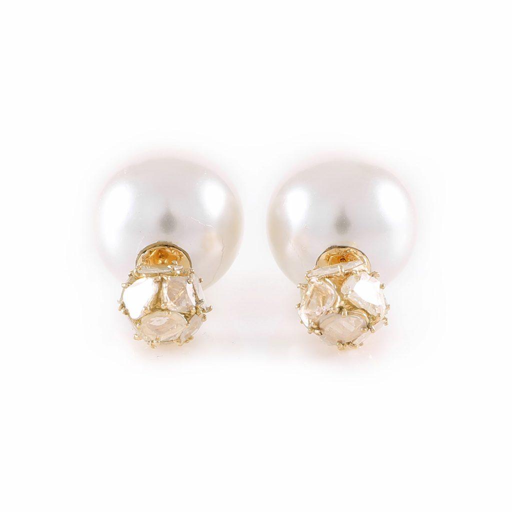 Earring Zero 2 – Diamonds in Yellow Gold by IVAR by Ritika Ravi