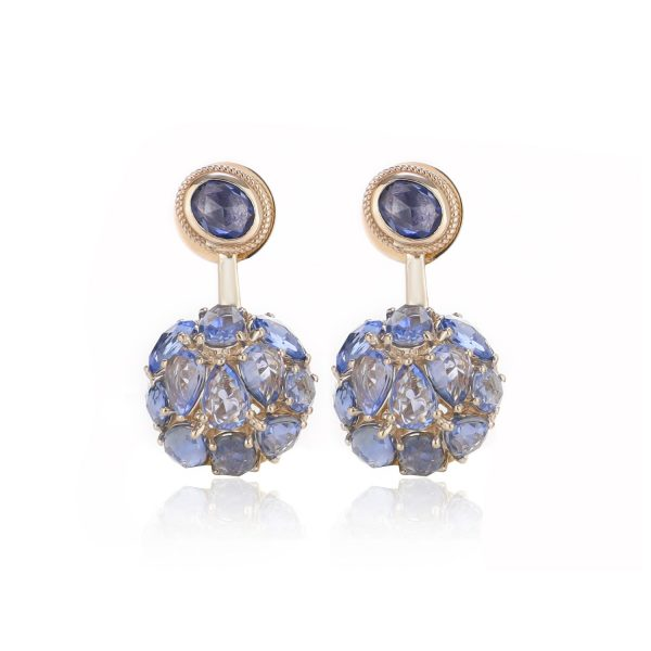 Earring Zero 3 – Sapphires by IVAR by Ritika Ravi