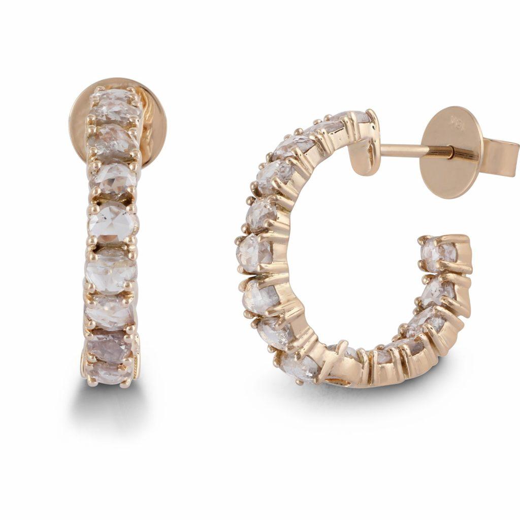 Earring Zero 4 – Diamonds in White Gold by IVAR by Ritika Ravi