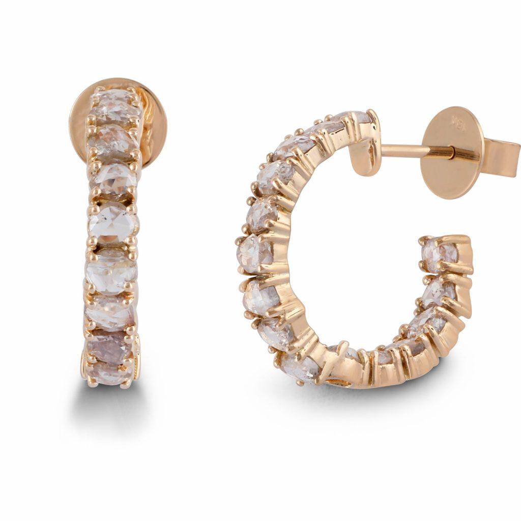 Earring Zero 4 – Diamonds in Yellow Gold by IVAR by Ritika Ravi