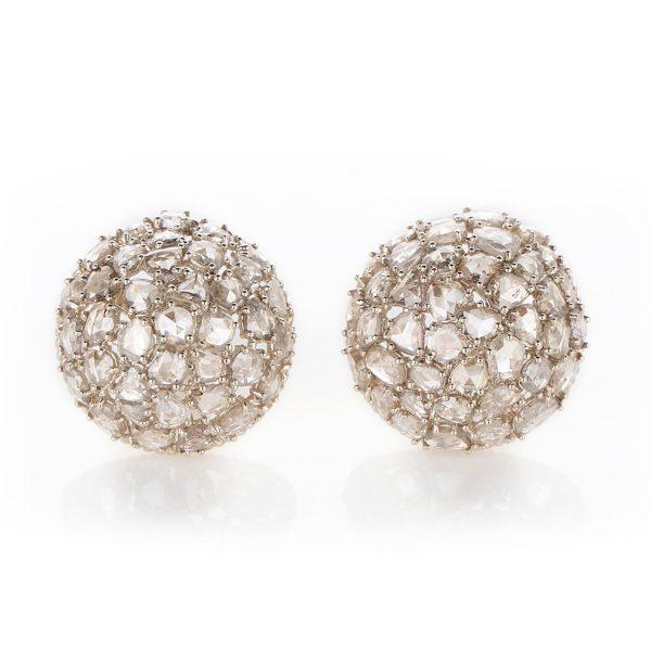 Earring Zero 5 – Diamonds in White Gold by IVAR by Ritika Ravi