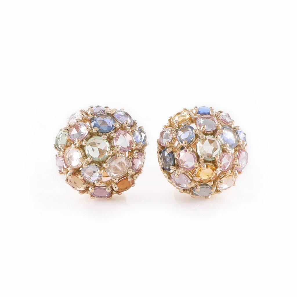 Earring Zero 1 – Multicolour Sapphires by IVAR by Ritika Ravi